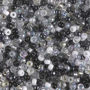 8-MIX-01 - 8/0 Miyuki Seed Bead Mix, Salt and Pepper | 125 Grams