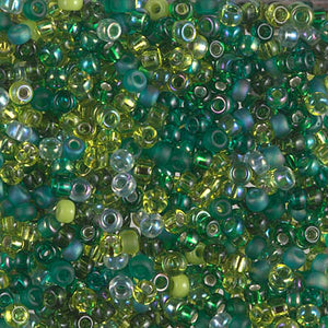 8-MIX-04 - 8/0 Miyuki Seed Bead Mix, Ever Green | 125 Grams