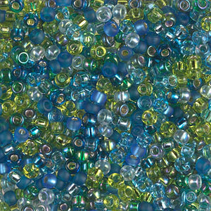 8-MIX-07 - 8/0 Miyuki Seed Bead Mix, Electric Blue Lagoon | 125 Grams