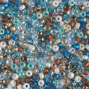 8-MIX-27 - 8/0 Miyuki Seed Bead Mix, Surf and Sand | 125 Grams