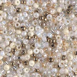 8-MIX-31 - 8/0 Miyuki Seed Bead Mix, White Wedding | 125 Grams