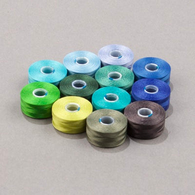 CLBAA.MIX-02 - C-Lon Waterfall Mix, Size AA | 12 Bobbins