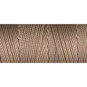 CLC.135-AB - C-LON Fine Weight Bead Cord, Antique Brown | 50 Yard Bobbin | 4 Bobbins