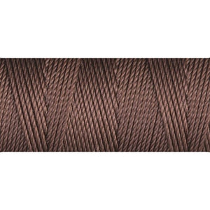 CLC.135-BR - C-LON Fine Weight Bead Cord Brown | 4 Bobbins