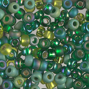 E-MIX-04 - 5/0 Miyuki Seed Bead Mix, Ever Green | 125 Grams