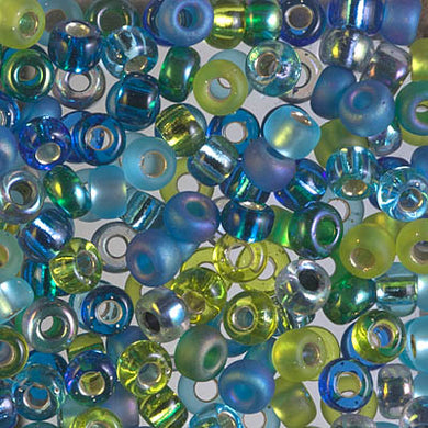 E-MIX-06 - 5/0 Miyuki Seed Bead Mix, Electric Blue Lagoon | 125 Grams
