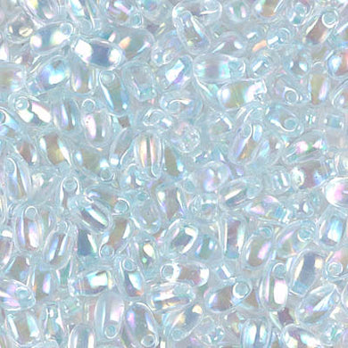 LDP-271 - Miyuki 3x5.5mm Long Drop Bead Lt Mint Green Lined Crystal AB | 125 Grams