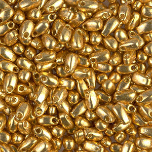 LDP-4202 - Miyuki 3x5.5mm Long Drop Bead Duracoat Galvanized Gold | 125 Grams
