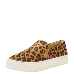 Leopard Suede Slip-On Shoes