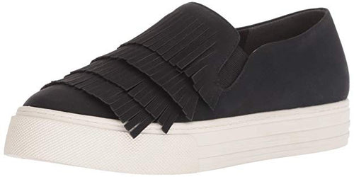 Bliss Black Suede Slip-On Shoes