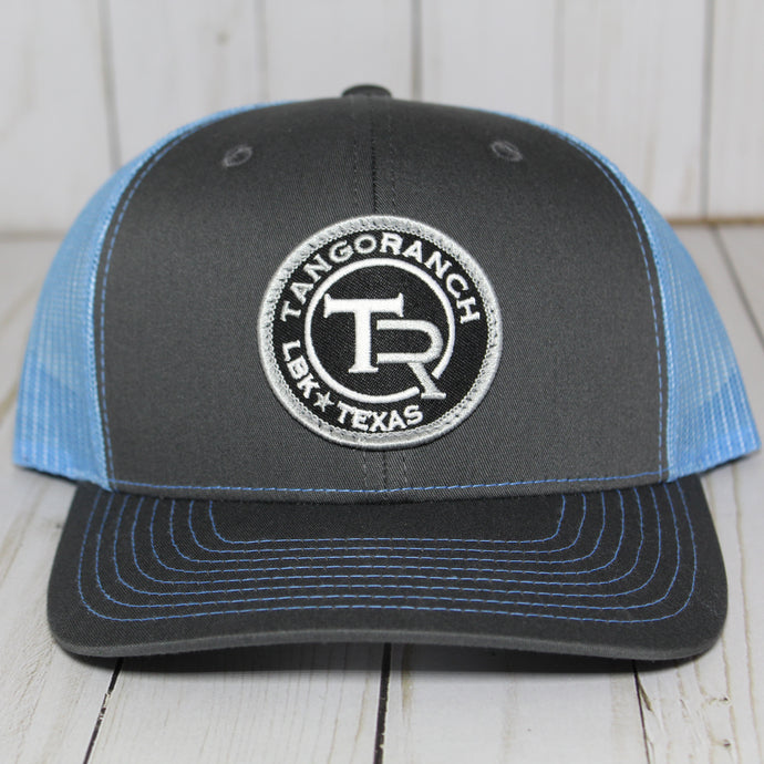 TR Cap - Charcoal & Carolina Blue Circle Patch
