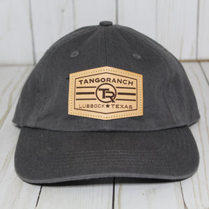 TR Cap - Charcoal / Leather Patch