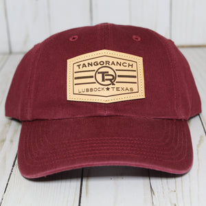 TR Cap - Cardinal Red / Leather Patch