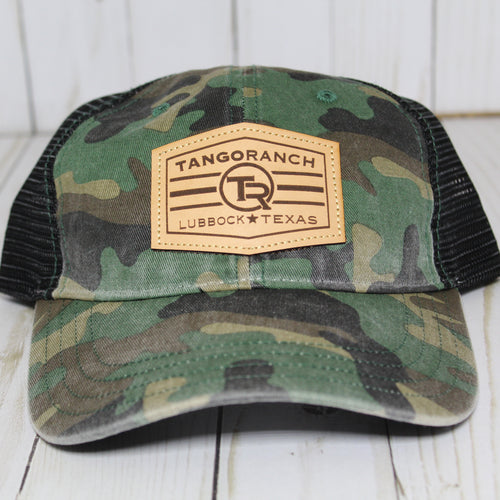 TR Cap - Camo / Leather Patch