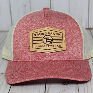 TR Cap - Red Heather / Leather Patch