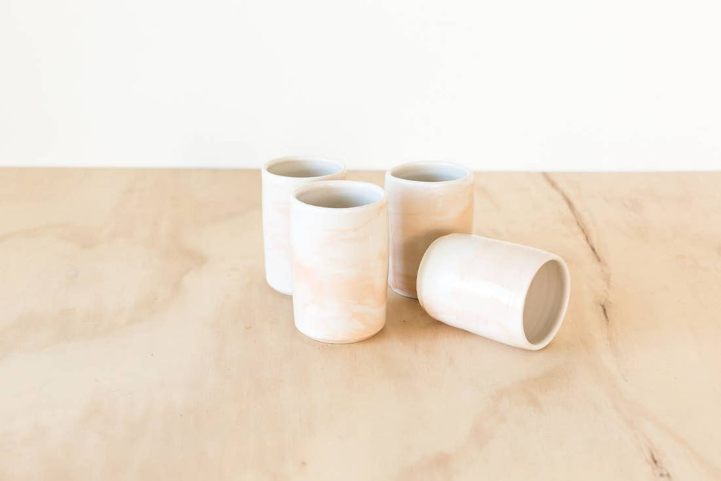 Peach Swirl Tumbler - Scout Coffee
