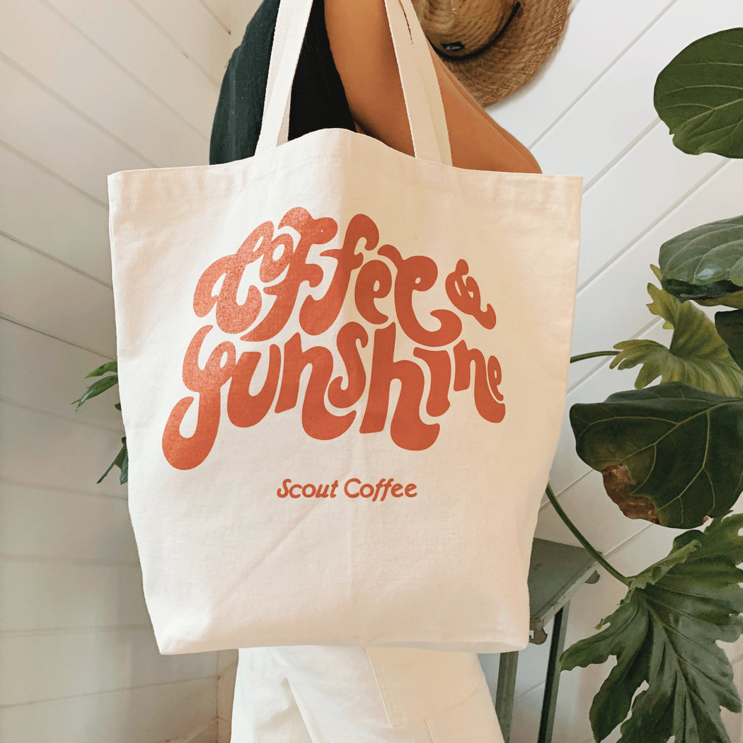 Coffee & Sunshine Tote Bag - Desert Rose - Scout Coffee