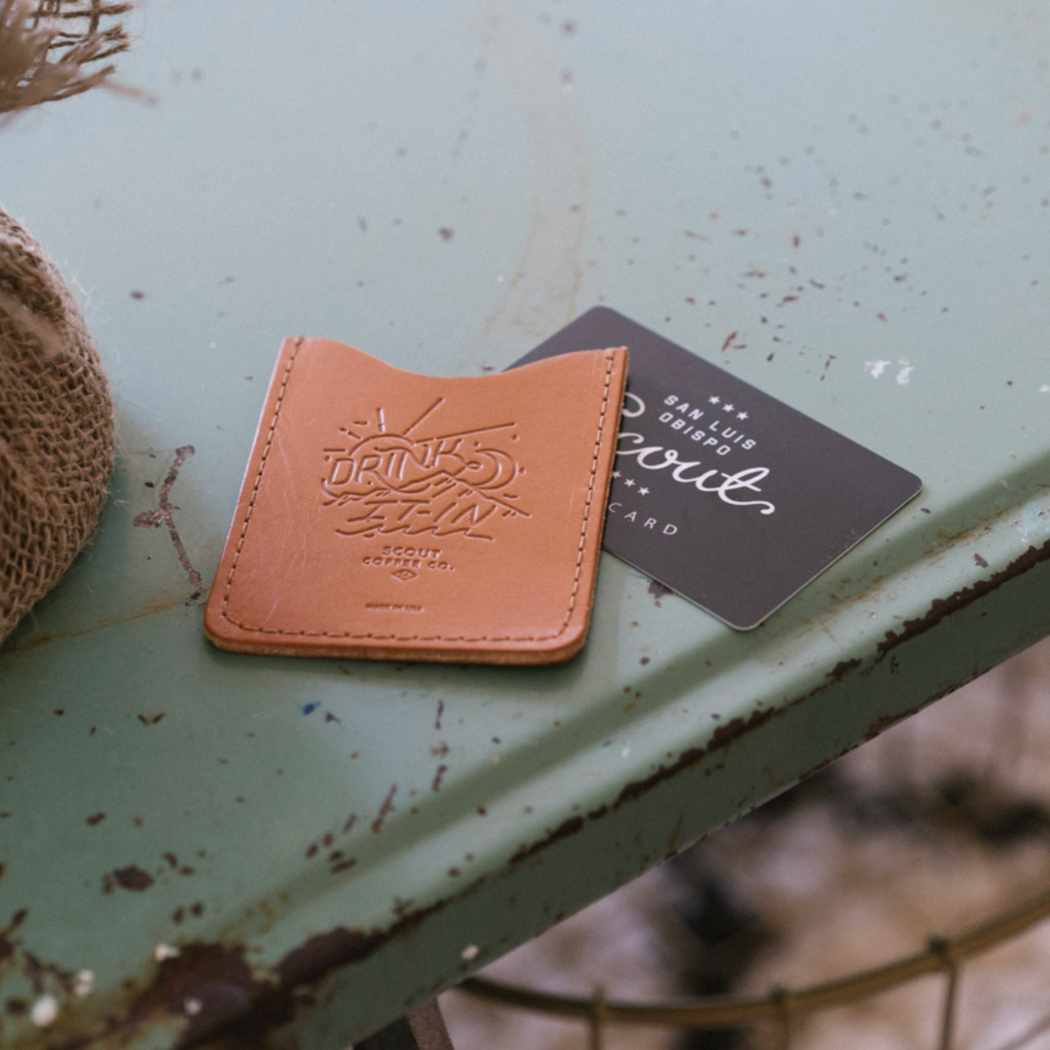 Scout Leather Card Wallet - Scout Coffee