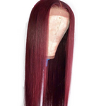 Burgundy Pre Plucked Lace  Wig - Lolette's Hair Bar