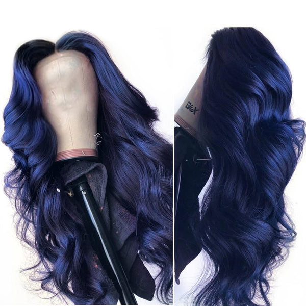 Dark Blue Lace Front Wig