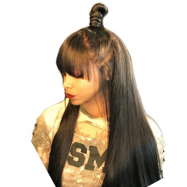 13x6 Lace Front  Wig With Bangs(Fake Scalp) - Lolette's Hair Bar