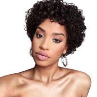 Short  Brazilian Curly  Wig (130% Density)