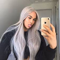 Straight Grey Lace Front Wig