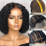 Fake Scalp Curly Lace Front Short Bob - Lolette's Hair Bar
