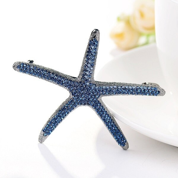 Crystal Starfish Hairpin
