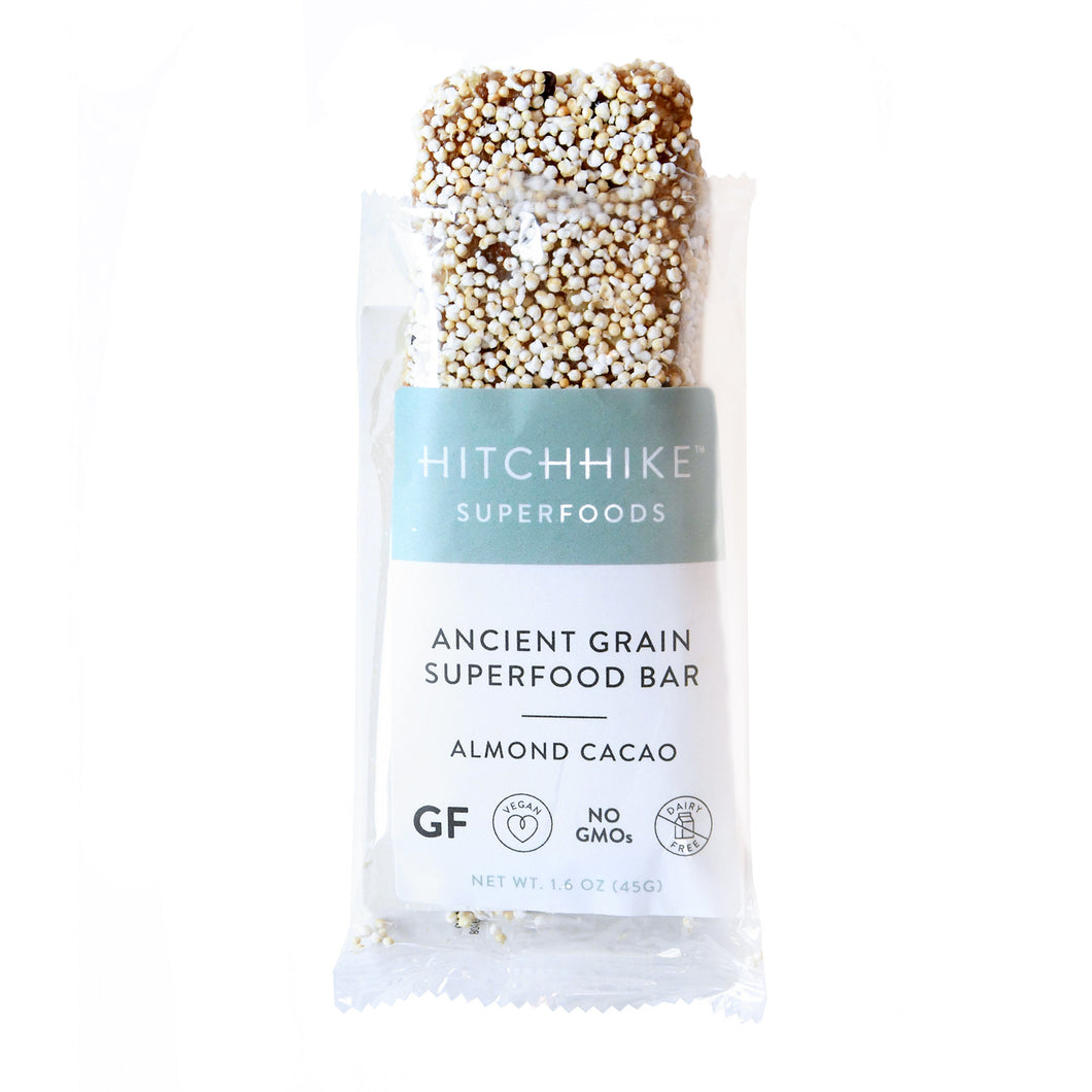 Hitchhike Superfoods Almond Cacao Amaranth Snack Bar