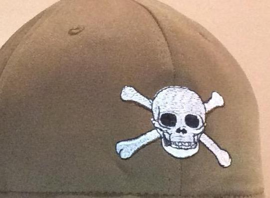 SKULL AND CROSSBONES DESIGN.. 1.5 x 2.5