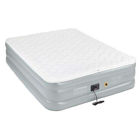 Airbed Queen, Double High, Pillowtop 120V, Built-In Pump