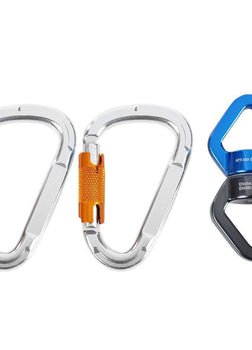 3pc Rock Climbing Kit Rotational Rope Swivel Connector D-shaped Mountaineering Buckle Outdoor Climbing Camping