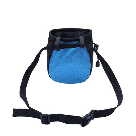 Adjustable Waist Belt Chalk Bag Magnesium Powder Storage Pouch for Rock Climbing Gym with Drawstring