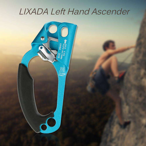 Lixada Left Hand Ascender Use with 8mm-13mm Rope for Rock Climbing Arborist Caving Climbing CE For Rescue/Rope Access/Alpinism