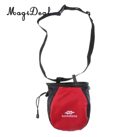 MagiDeal Chalk Bag Storage Pouch for Rock Climbing Gym with Drawstring and Adjustable Waist Belt