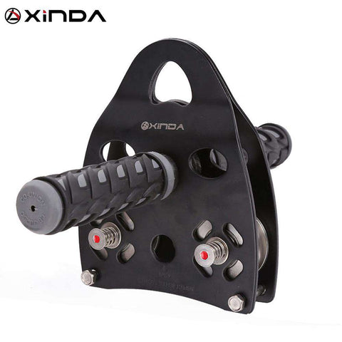 XINDA Professional Handle Pulley Roller Gear Outdoor rock climbing Tyrolean Traverse Crossing Weight Carriage Device