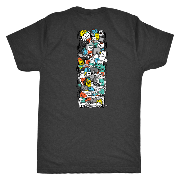 Gamers Cartoon T-Shirt (Back) - (Other Colors Available)
