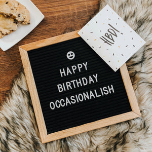 Occasionalish 1st Birthday!
