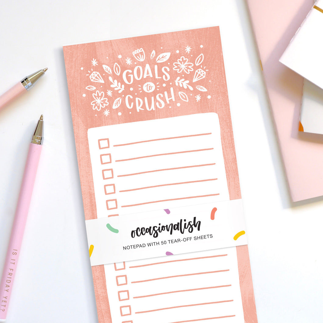 Goals To Crush - Tear-Off Notepad