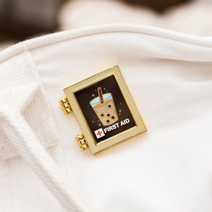 First Aid Boba Enamel Pin