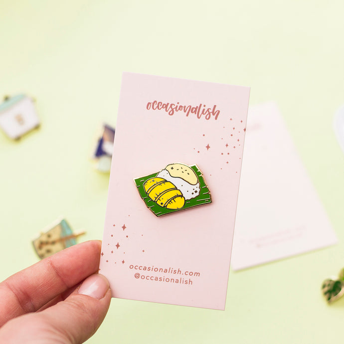 Mango Sticky Rice Enamel Pin