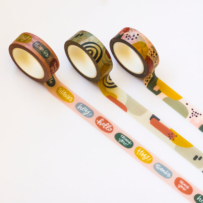 Colorful Greetings | Set of 3 Washi Tapes