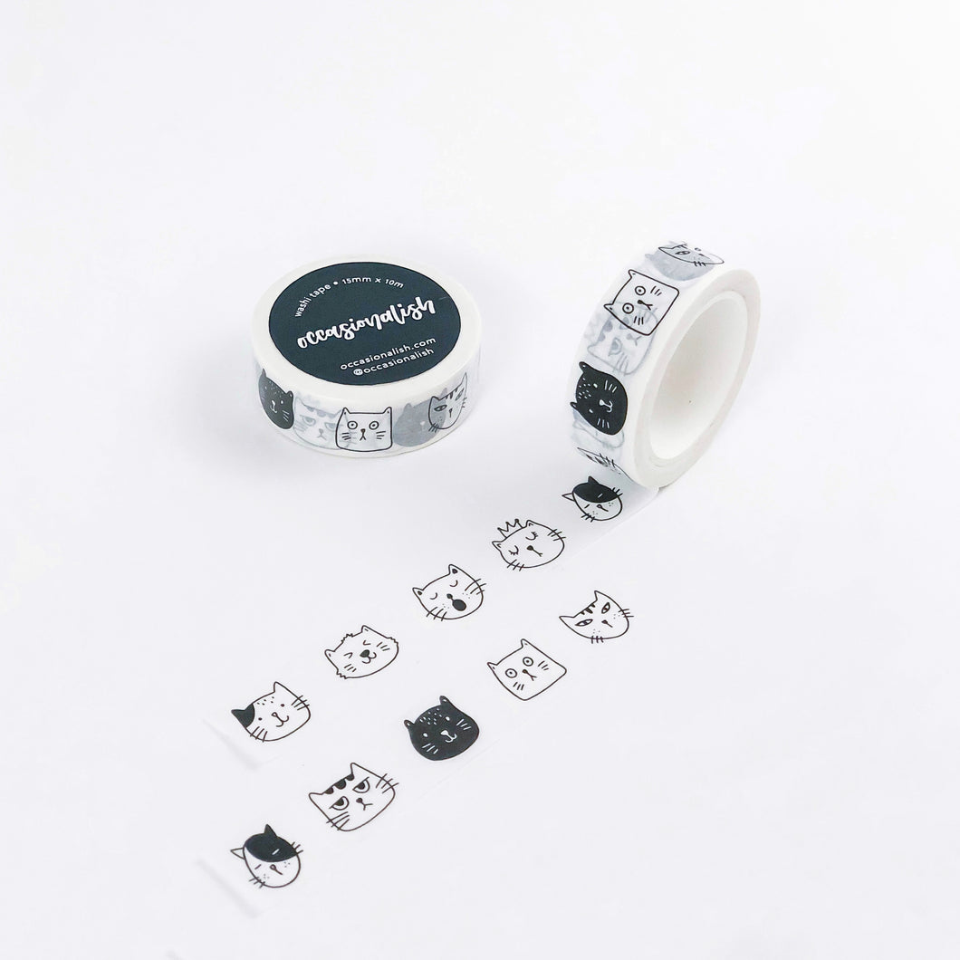 Faces of Meows Washi Tape