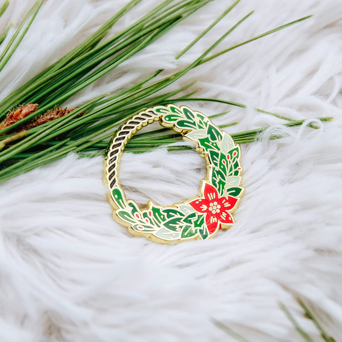 Holiday Wreath Enamel Pin