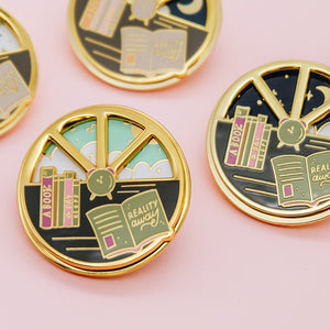 Day and Night Enamel Pin - Slightly off colors
