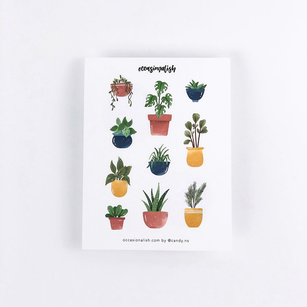 Houseplant Sticker Sheet