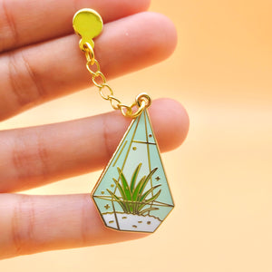 Air Plant Terrarium Enamel Pin
