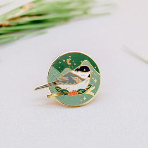 Winter Bird Enamel Pin