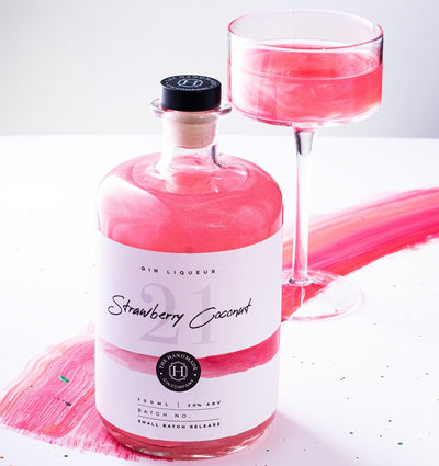 Shimmering Strawberry & Coconut Gin Liqueur - 70cl